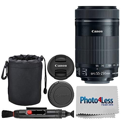 Canon EF-S 55-250mm F4-5.6 is STM Lens for Canon SLR Cameras + Neoprene Soft Lens Pouch 6