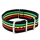 22mm Nylon strap-Jamaica colors with 2 spring bars included