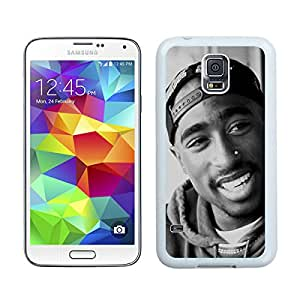 Samsung Galaxy S5 Case,Excellent protection Tupac Shakur (2) White For Samsung Galaxy S5 i9600 Case