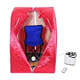 AW Portable Red Personal Therapeutic Steam Sauna SPA Slim Detox Weight Loss Home Indoor