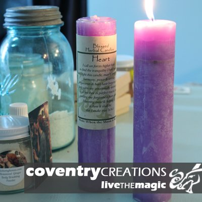 Blessed Herbal - Heart Candle