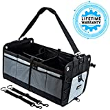Car Trunk Organizer Collapsible Cargo Storage Bag For Camping Fishing Hunting Auto Sailing Beach Shopping Bag with Shoulder Strap and Non Slip Bottom Premium Heavy Duty Quality By CarsGadget