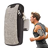 Lakem Cell Phone Armband Waterproof Gym Sports Running Armband Upgraded Version Arm Bag with Earphone Hole for iPhone X 8 7 6 6s Plus Samsung Galaxy S5 S6 S7 S8 S9 Plus (Gray)