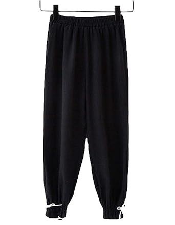 b7898a191 BINBOY Girls Summer Anti-Mosquito Pants Casual Wide Leg Pants Bloomers  Harem Pants Little Girls