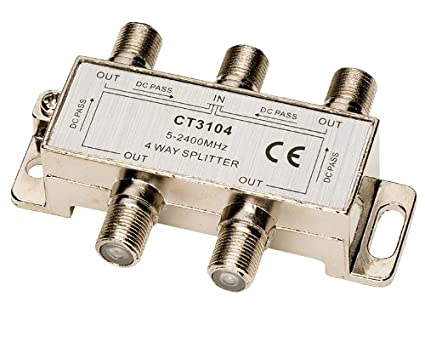 Allen Tel CT3104 Coaxial 2.4 GHz 4-Way Splitter