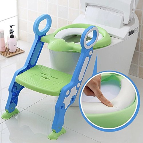 Cushioned Potty Ladder Training Seat, Children's toilet seat chair, Toddlers toilet training step stool yaohongzhizao