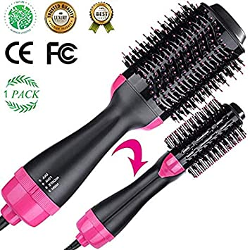 Volumizer Hair Dryer Hot Air Brush Curly Hair Comb 3 in 1 with Straightening, Curling, Fast Drying, using Negative Ion to protect hair and skin, for Home and Salon lover s present