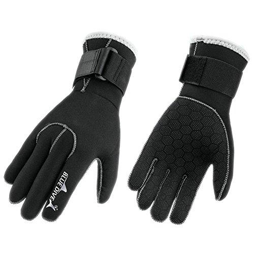 Prom-near High Stretch Diving Gloves -3 MM Neoprene Scuba Dive Gloves Swimming Snorkeling Equipment Anti-scratch Anti-slip Keep Warm Wetsuit Material Winter Swimming for Adult Women Men (Medium) (Stretch Dive Glove)