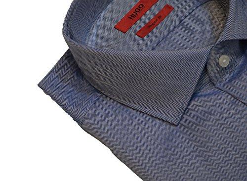 Hugo Boss Herren Business-Hemd blau dunkelblau