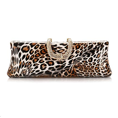 Bag Tide Party Craft Bag Bag Bag Fashion American Leopard Print Diamond Bag Fly Handbags Gold Evening European Encrusted Evening 5dqnTX