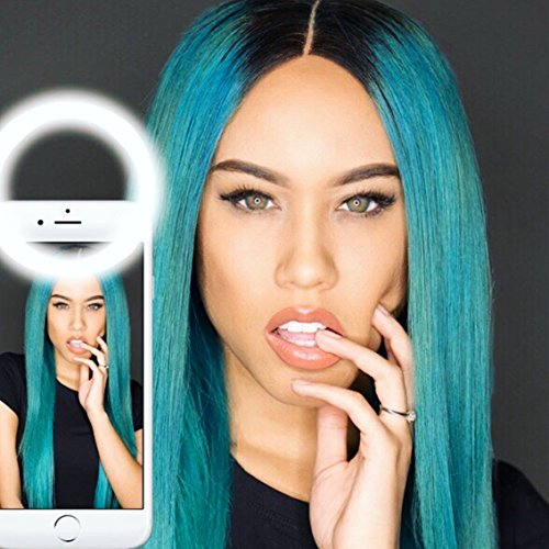 Roxima Clip on Selfie Ring Light with 36 LED For Smart Phone Front Camera Round Shape, (Halloween Party Asu)