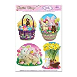 Easter Candy Clings Party Accessory (1 count) (4/Sh)