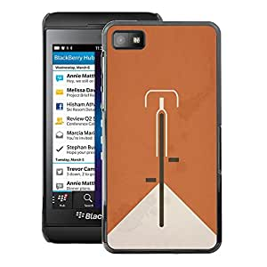 A-type Arte & diseño plástico duro Fundas Cover Cubre Hard Case Cover para Blackberry Z10 (Bicycle Ginger Vintage Clean Minimalist)