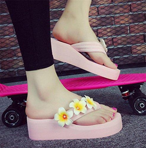 pengweiSimple pendiente con la palabra zapatillas deslizadores de fondo grueso zapatillas zapatos de playa de se?oras 3