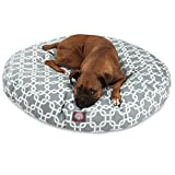 Gray Links Large Round Indoor Outdoor Pet Dog Bed With Removable Washable Cover By Majestic Pet Products