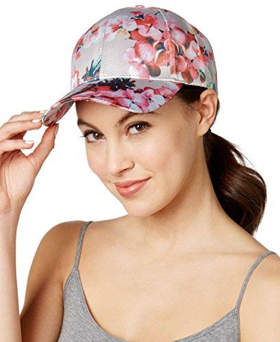Silk Cap Baseball (Collection XIIX Women's Floral Silk Baseball Cap, Pink, One Size)