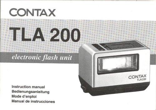 Electronic Flash Instruction Manual - Contax TLA 200 Electronic Flash Unit Original Instruction Manual