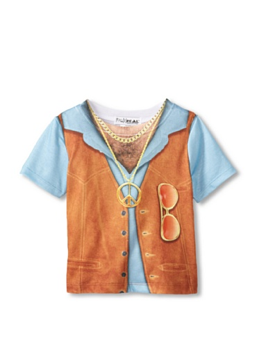 Toddler 1970s Hairy Chest Costume T-Shirt