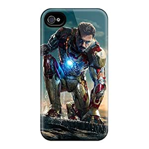 Marycase88 Iphone 4/4s Perfect Hard Cell-phone Case Allow Personal Design Trendy Iron Man 3 New Pictures [prX40GMgG]