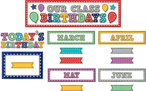 Teacher Created Resources Marquee Our Class Birthdays Mini Bulletin Board (5892)