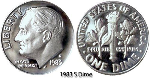 1983 S Roosevelt Proof Dime PF1 US Mint