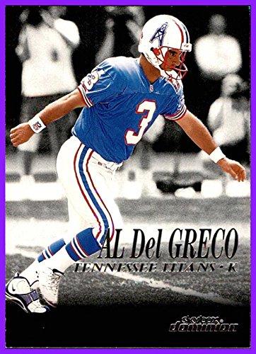 1999 SkyBox Dominion #142 Al Del Greco HOUSTON OILERS TITANS Kicker AUBURN - Auburn In Shops Al