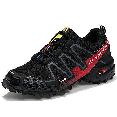 Uomo Shufang Stringate shoes Red Black Scarpe qfHYft1