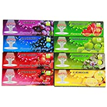 Hornet 8 Packs Variety Juicy Fruit Flavored Cigarette Rolling Paper,1 1/4 Size 78*44MM,50 Papers Per Pack(Total 400Papers),Including Grape,Watermelon,Blueberry,Green Apple,Very Cherry,Vanilla,Straberry,Lemon Flavored Papers