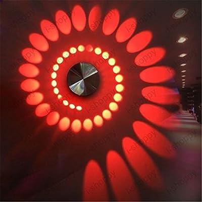 Denshine Spiral 3W Red High Power LED Wall Light Fixture Lamp Bulb Hotel Walkway House Decor