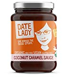 ORGANIC Coconut Caramel Sauce - Date Lady 11oz Glass Jar - Rich blend of Coconut Cream & Date Syrup | NO HFCS, NON-GMO, VEGAN, GLUTEN-FREE & KOSHER | Great in Lattes or on Apples, Pancakes, Oatmeal an