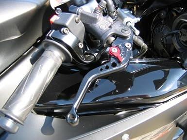 FR-214 courte de frein et dembrayage reglables Leviers pour TRIUMPH 675 STREET TRIPLE 2008-2015-Noir