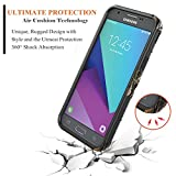 Samsung Galaxy J3 Luna Pro Case, Galaxy J3 Eclipse Case, Galaxy J3 Mission Case with [Tempered Glass Screen Protector], NageBee [Heavy Duty] Shock Proof [Belt Clip Holster Kickstand] Combo Case -Camo
