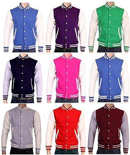 vert xXL taille gris bordeaux l m en blanches Pink COLLEGE xS xL violet veste bleu s marine Wei manches rouge noir bleu rose xRF667wqA