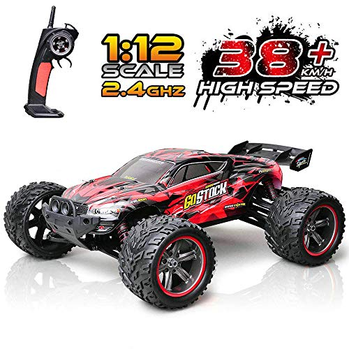Remote Control Car, 1:12 Scale RC Car, 38km/h 2.4Ghz Off-Road RC Trucks, Remote Control Truck Monster Gift for Boys & Kids