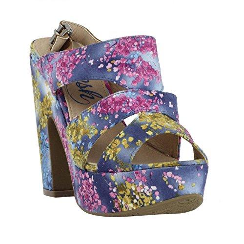 Sandalias de Mujer REFRESH 61713 TEXTIL FLOR AZUL