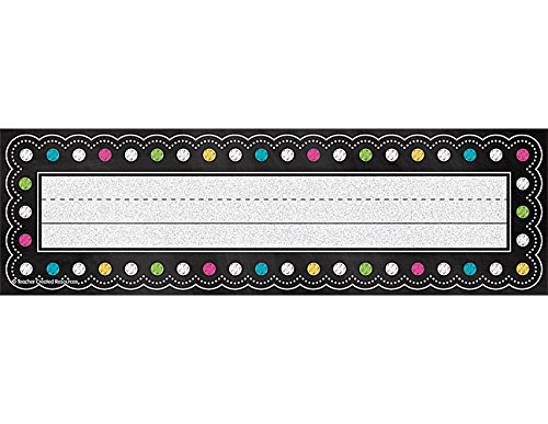 Teacher Created Resources Chalkboard Brights Name Plates (5624)