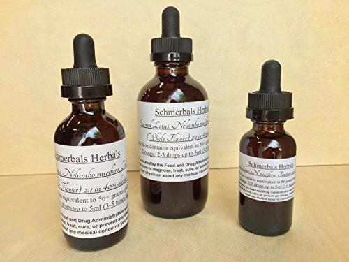 Sacred Lotus, Nelumbo nucifera, 2:1 weight/volume (56+grams/fl oz) ORGANIC ~ Sacred Herbs from Schmerbals (Fl Oz Grams)