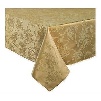 Amazon Com Christmas Ribbons Amp Poinsettia Antique Gold