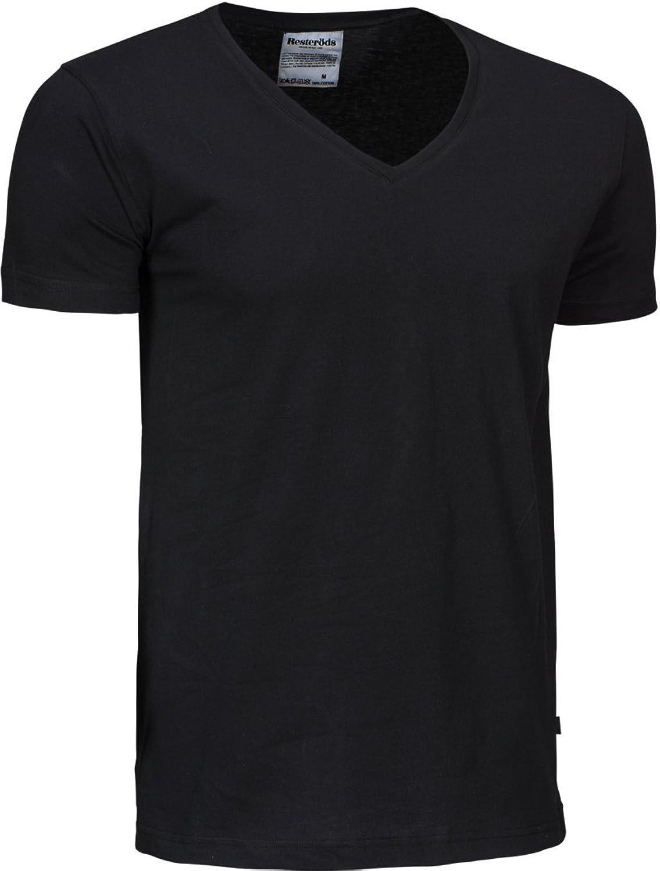 Resteröds Original V-Neck Shirt 6er Pack - Schwarz und Weiß S bis 2XL