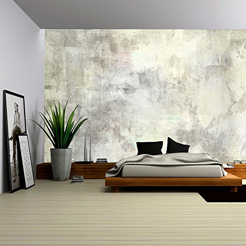 Cheap  wall26 - Art Abstract Acrylic Background in Light Grey and White Colors..