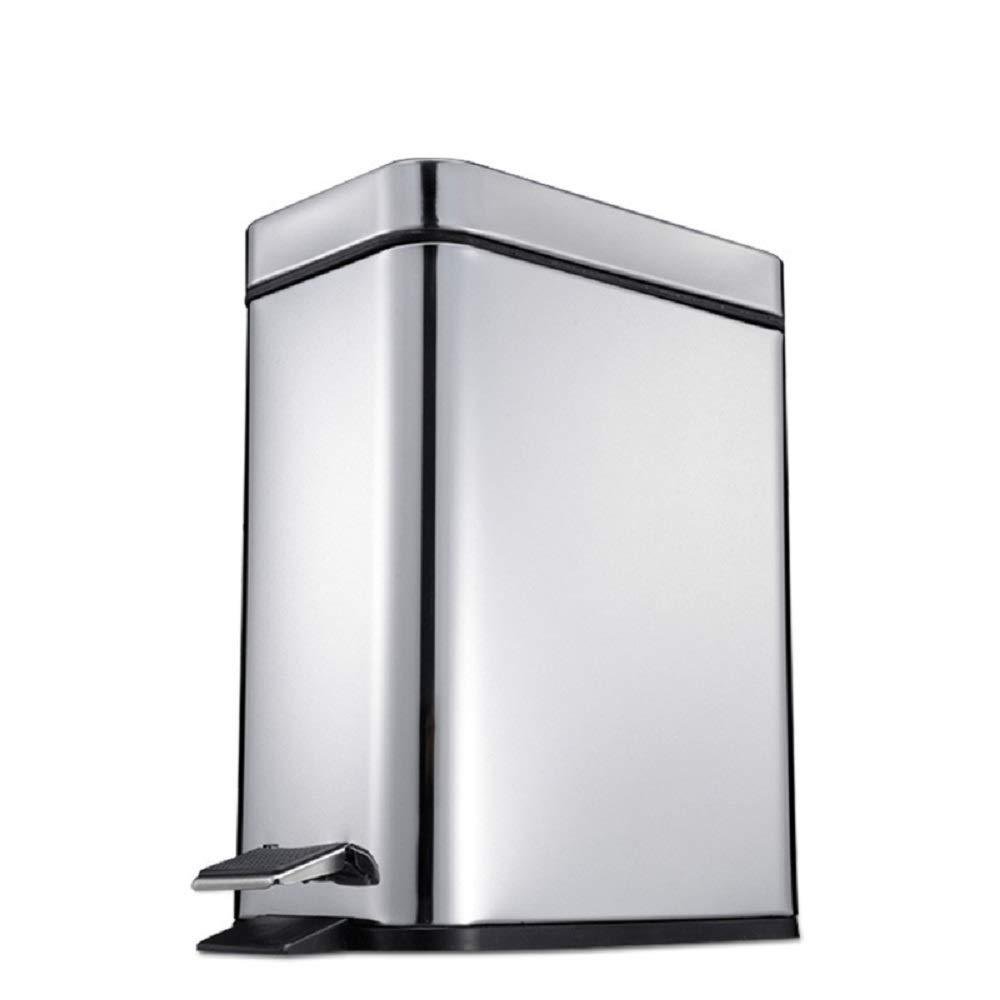 Ayanx 15L Bin Petal, for Bathroom, Living Room, Toilet - Silver