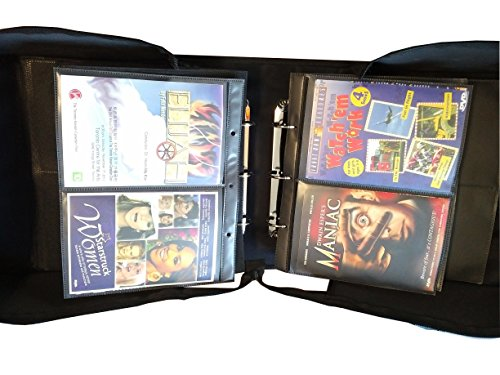 MegaDisc 240 DVD Album Black Nylon Fabric with Removable Sleeves Hold 120 Titles ()