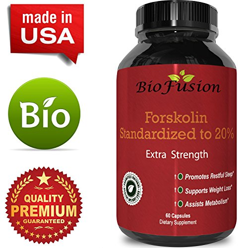 Forskolin Extract Weight Loss Supplement Natural Diet Pills for Men & Women – Natural Fat Burn Benefits Boost Metabolism Curb Appetite Preserve Lean Body Mass Pure Coleus Forskohlii by Bio Fusion
