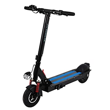 XIUDADA Scooter Eléctric Plegable Negro con Luz LED ...