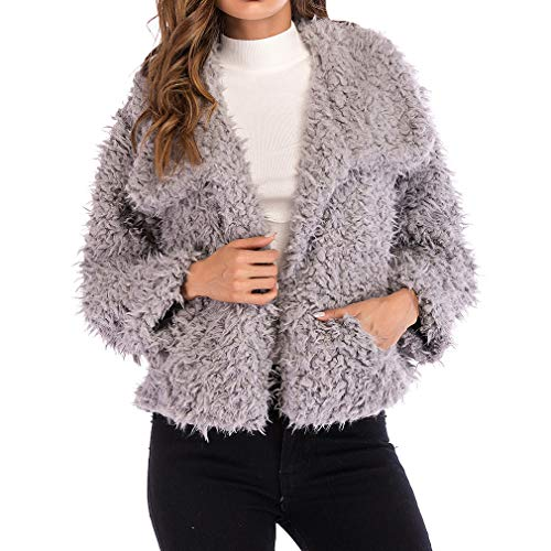 Rosa Jacket Nero Coat Capispalla Short Autunno Donna Warm Soprabito Parka Fangcheng Grigio Hairly Coats Winter Pdvw5qR