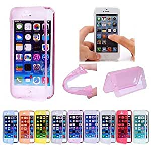 SJT sold out Screen Touching Dust-proof Soft Full Cover Case for iPhone 5/5S(Assorted Colors) , Green