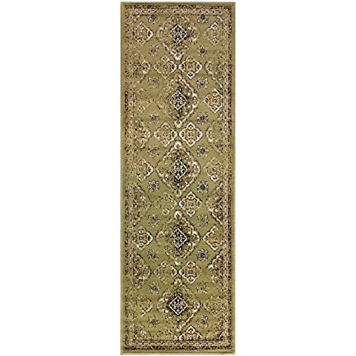 Superior Mayfair Collection Area Rug, 8mm Pile Height with Jute Backing, Vintage Distressed Medallion Pattern, Fashionable and Affordable Woven Rugs - 2'7