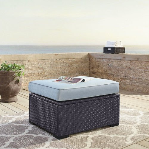 Crosley Furniture BISCAYNE OTTOMAN WITH MIST CUSHIONS by Crosley Furniture