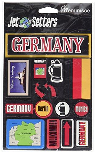 Reminisce Jet Setters Self-Adhesive Epoxy Embellishments, Germany ()