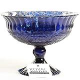 Koyal Wholesale Compote Bowl Centerpiece Mercury Glass Antique Pedestal Vase, Floral Centerpiece, Wedding